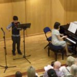 Piano and violin playing concert 2014